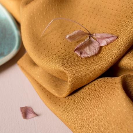 Dobby Ochre Fabric