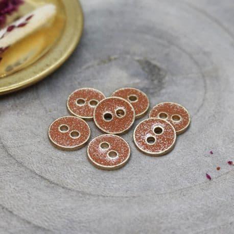 Joy Glitter Buttons - Chestnut