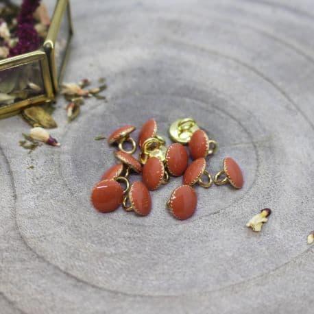 Gem Buttons - Chestnut