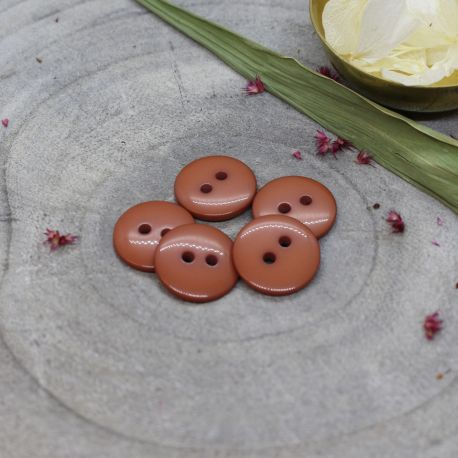 Classic Shine Buttons - Chestnut