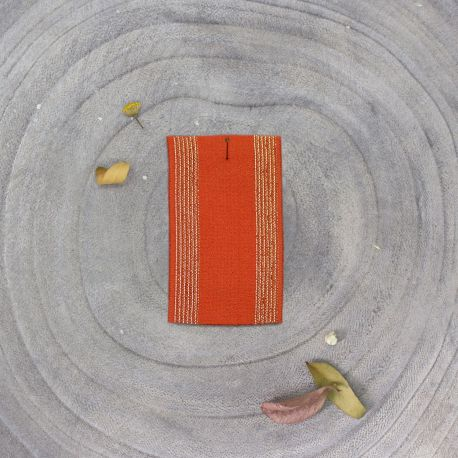 Striped rubber band - Tangerine