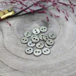 Glitter Buttons - Sage