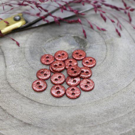 Glitter Buttons - Terracotta