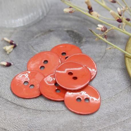 Glossy Buttons - Tangerine