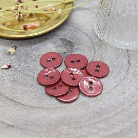 Boutons Glossy - Terracotta