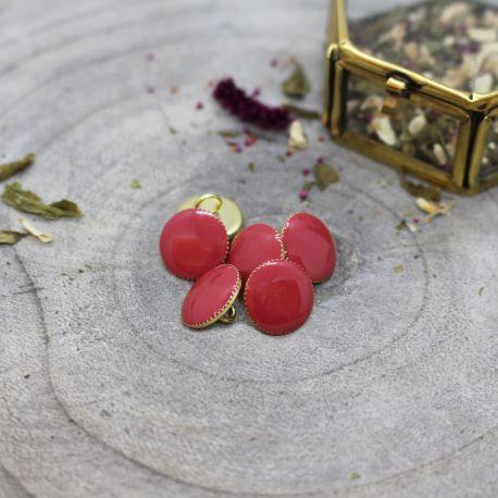 Gem Buttons - Terracotta