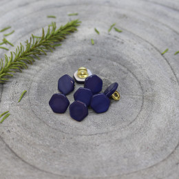 Quartz Buttons - Cobalt