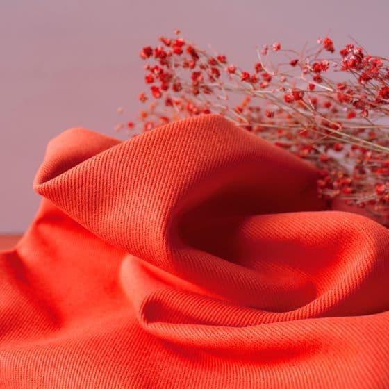 "Tissu ""Gabardine Tangerine"""