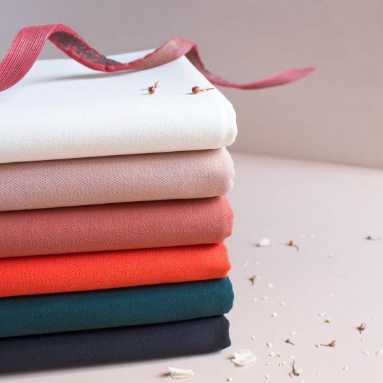 Gabardine Off-White Fabric