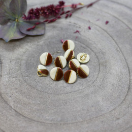 Boutons Wink Off-White - Rust