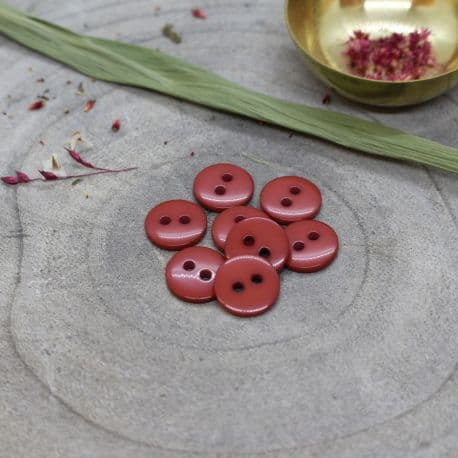 Classic Shine Buttons - Terracotta