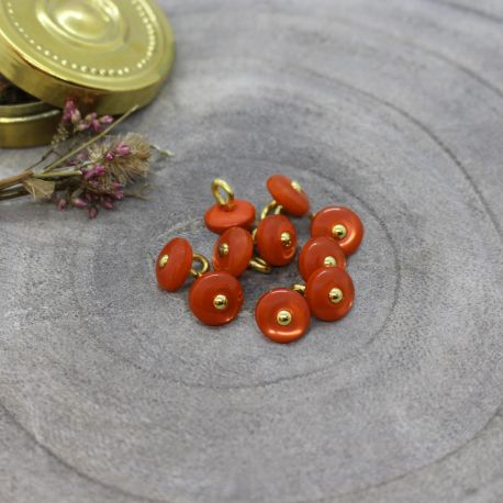 Jewel Buttons - Tangerine