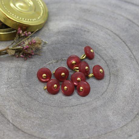 Jewel Buttons - Terracotta