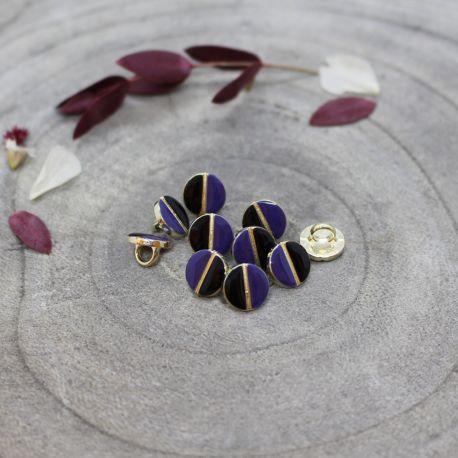 Wink Buttons Black - Cobalt