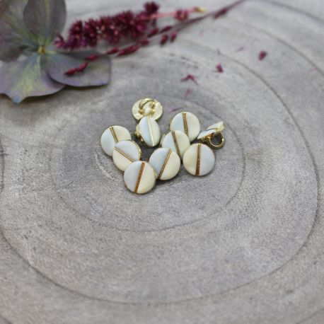 Wink Buttons Off-White - Sage