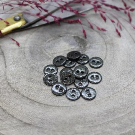 Glitter Buttons - Black