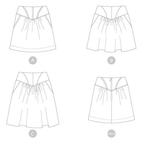 Crescent skirt