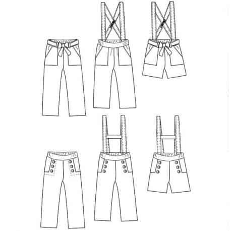Avana pants & shortpants 3-12 yo