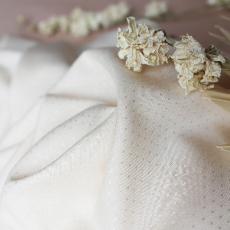 Dobby Off-White Fabric